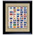 U.S. State Flag Stamp Sheet in 16x14 Wood Frame