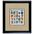 Super Heroes U.S. Stamp Sheet in 16x14 Wood Frame