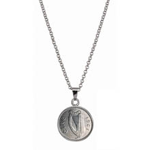 Irish Threepence Coin Pendant Necklace