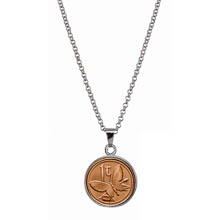 Butterfly Coin Pendant Necklace