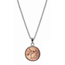 Hummingbird Coin Pendant Necklace