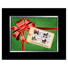 Christmas Toy United States Stamp Collection Framed