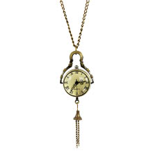 Glass Ball Bronze Watch Necklace