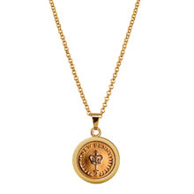 Crown Coin Pendant