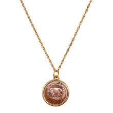 Pig Coin Pendant