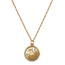 Two Goats Coin Pendant