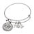 Western Charm Silver Tone Bison Nickel Coin Bangle Bracelet