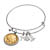 Western Charm Silver Tone Gold Layered Buffalo Nickel Obverse Coin Bangle Bracelet