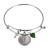 Irish Three Pence Cross and Heart Silver Tone Coin Bangle Bracelet