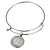Silver Barber Dime Silver Tone Coin Bangle Bracelet