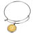 Gold Layered Silver Barber Dime Silver Tone Coin Bangle Bracelet
