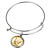 Gold-Layered Silver Mercury Dime Silver Tone Coin Bangle Bracelet