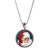 Santa Colorized Washington Quarter Silver Tone Pendant