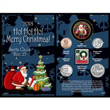 2018 Santa Greeting Coin and Stamp Card
