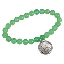 Lucky Irish Three Pence Coin Aventurine Bracelet