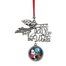 Joy to the World Santa Share The Joy JFK Half Dollar Ornament