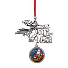 Joy to the World Santa Peace On Earth JFK Half Dollar Ornament