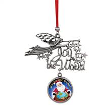 Joy to the World Santa Joy To The World JFK Half Dollar Ornament