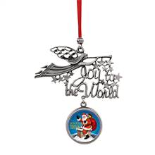 Joy to the World Santa Joyous Tidings JFK Half Dollar Ornament