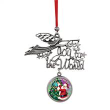 Joy to the World Santa Happy Holidays JFK Half Dollar Ornament