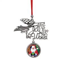 Joy to the World Santa Holiday Blessings JFK Half Dollar Ornament