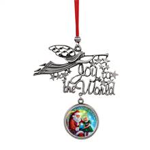 Joy to the World Santa Wishes of Hope And Peace JFK Half Dollar Ornament