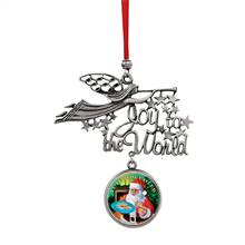 Joy to the World Santa Yule Tide Cheer JFK Half Dollar Ornament