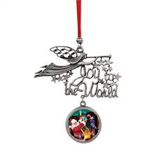 Joy to the World Santa Deck The Halls JFK Half Dollar Ornament