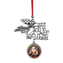 Joy to the World Santa Season's Greetings JFK Half Dollar Ornament