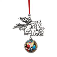 Joy to the World Santa A World Of Best Wishes JFK Half Dollar Ornament