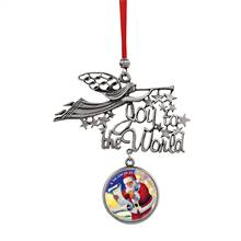 Joy to the World Santa A Season For Giving JFK Half Dollar Ornament
