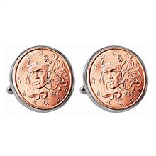 French 2 Euro Coin Cufflinks