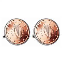 Irish 2 Euro Coin Cufflinks