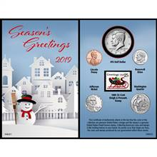 Snowman Year To Remember 2019 Coin Christmas Card
