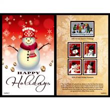 Snowman United States Postage Stamp Card