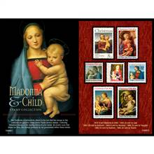 Madonna and Child United States Postage Stamp Collection