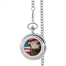 American Bald Eagle Colorized JFK Half Dollar Pocket Watch
