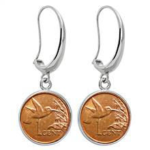 Hummingbird Silvertone Earrings