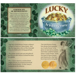 Bankers Bag of Lucky Irish Pennies