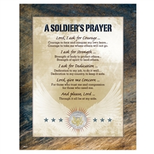 A Soldier's Prayer with Genuine JFK Half Dollar Matted Coin
