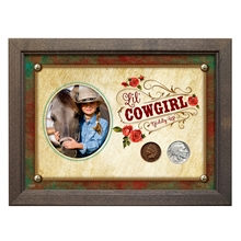 Lil' Cowgirl Coin Set 5x7 Frame