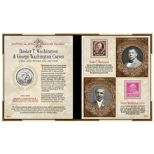 Black History Carver and Washington Coin and Stamp Set