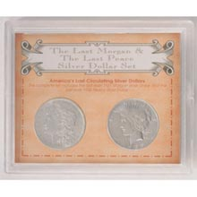 The Last Morgan and Peace Silver Dollar Set.
