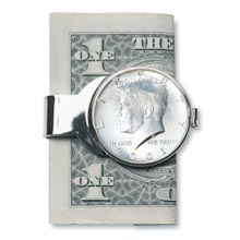 JFK Half Dollar Money Clip