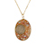 Silver Mercury Dime Natural Sunstone Pendant with Crystal