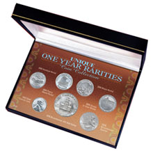 American Coin Treasures Unique One Year Rarities Coin Collection