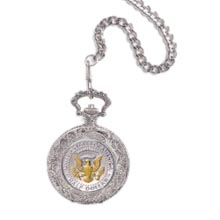 Selectively Gold-Layered Presidential Seal Pocket Watch