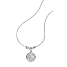 Sterling Silver Barber Dime Pendant