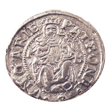 Ancient Silver Madonna and Child Coin