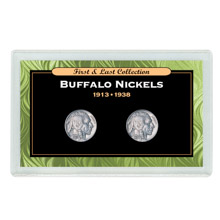 First & Last Buffalo Nickels 1913 & 1938